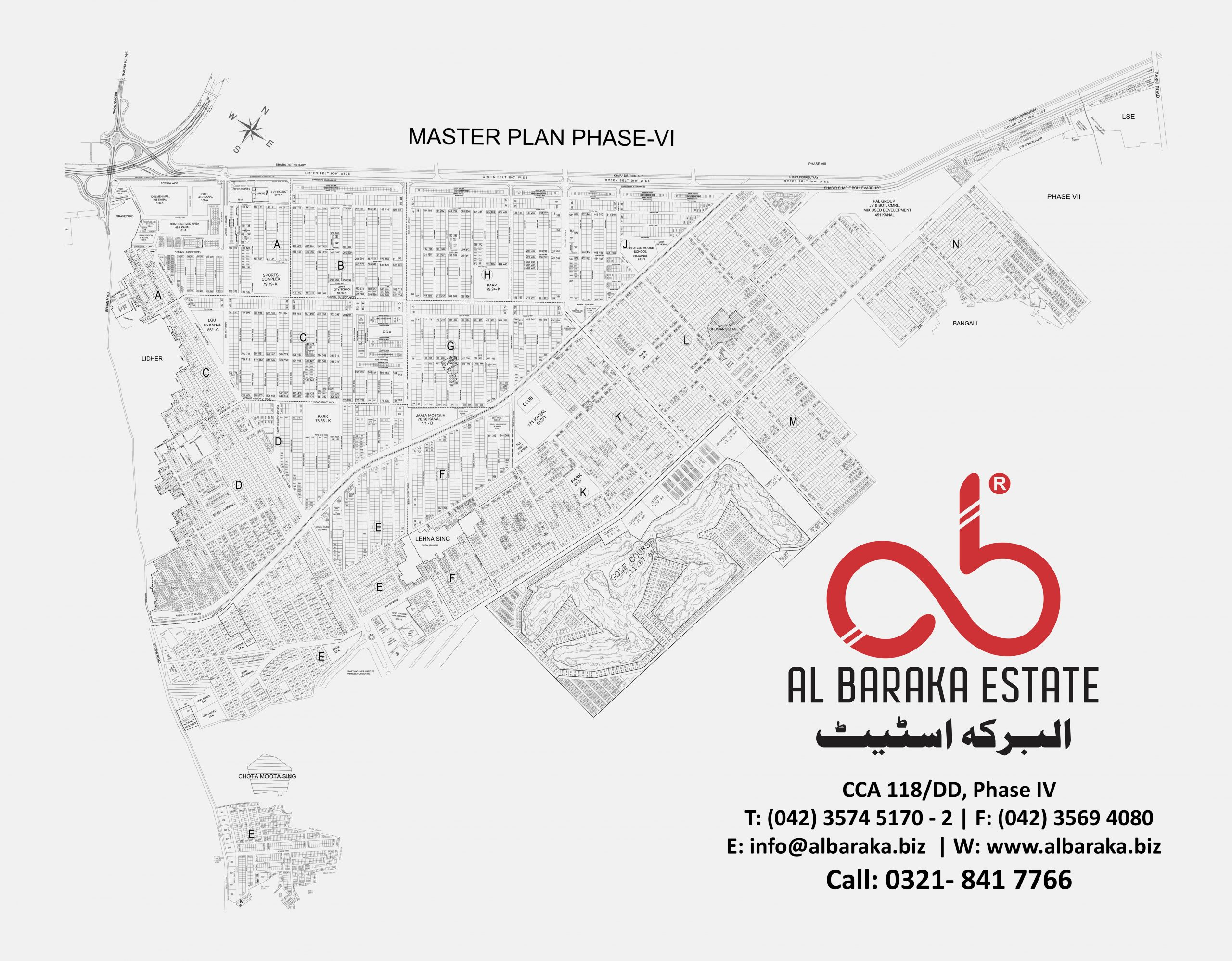 DHA Phase 6 Map